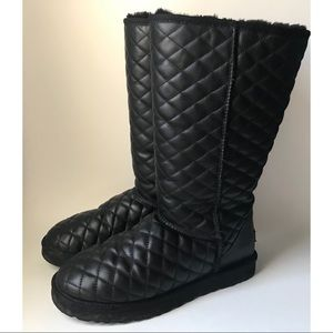 Ugg Australia Tall Diamond Quilted Boots Leather